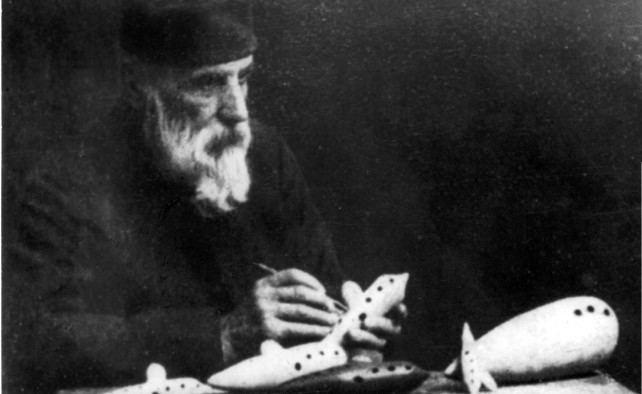 تصویر جوزپه دوناتی، مخترع اکارینای کامل (فوریه 1925 - دسامبر 1836)
